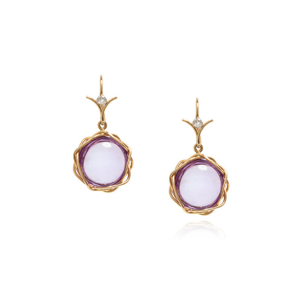 Amethyst lintel earrings