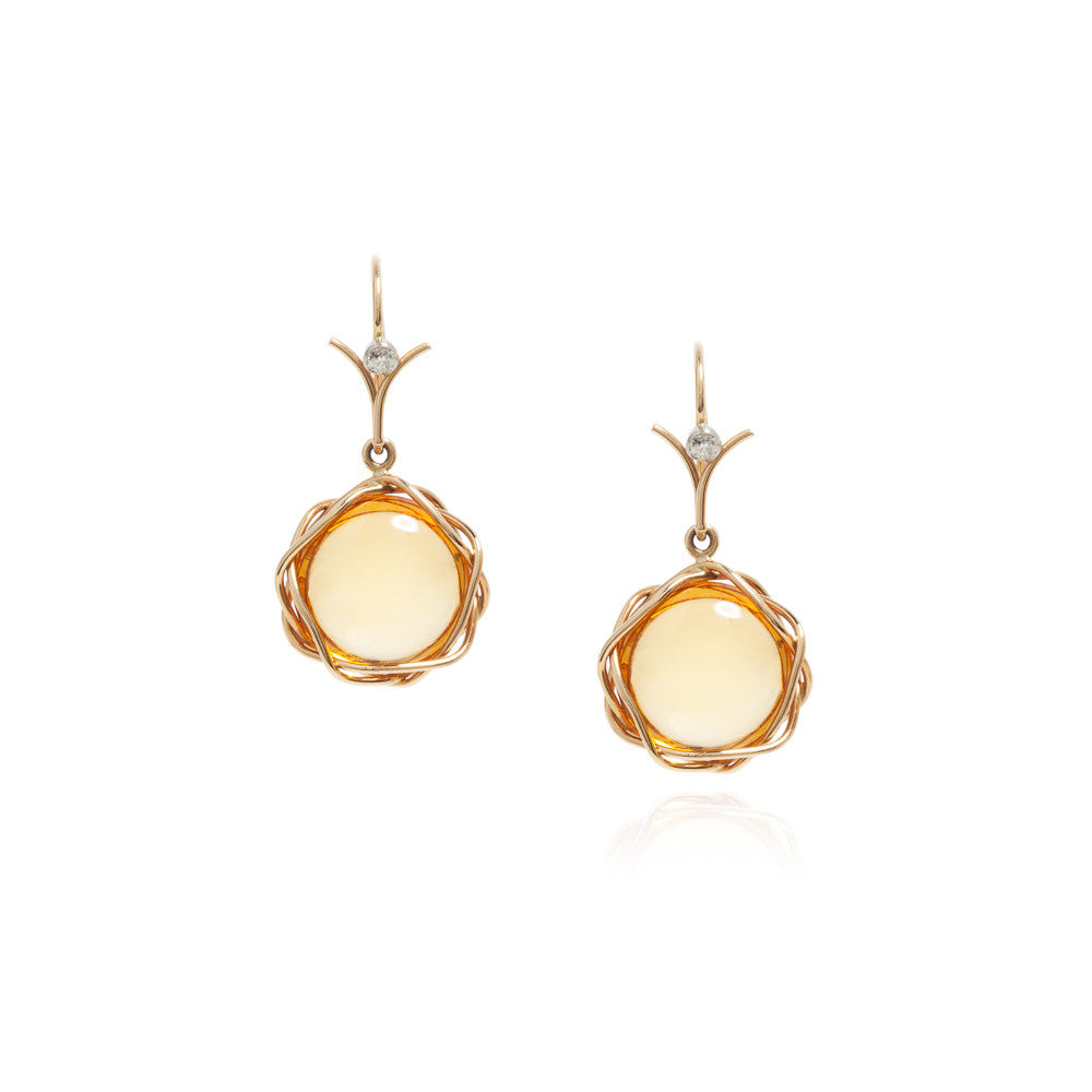 Citrine lintel earrings