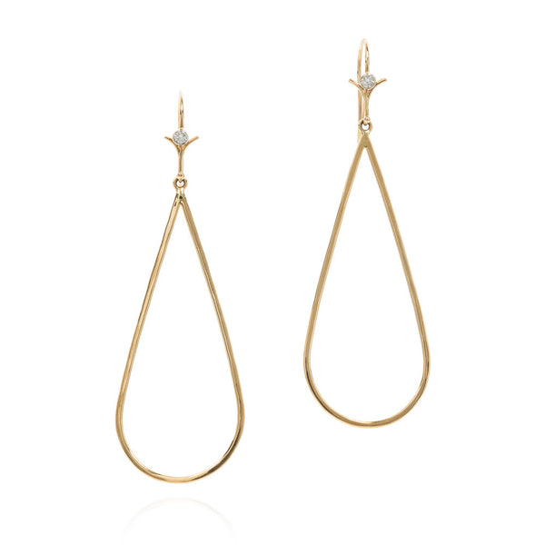 18k tear drop earrings