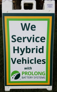"Curb Sign ""We Service Hybrid Vehicles"" <BR>FREE SHIPPING"