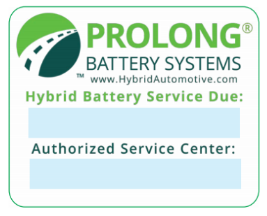 Hybrid Battery Service Reminder Windshield Stickers