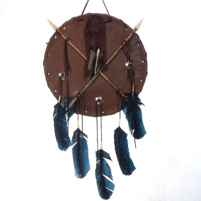 Native American Style Warrior Shield Dream Catcher