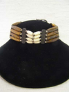 4-Row Native American Style Brown Choker