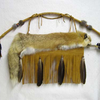 "44"" Cherokee Made Red Fox Quiver with Fringed Bow and Arrow"