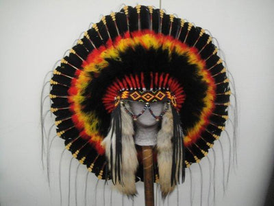 Mystic Sunset Authentic Navajo Indian Headdress WarBonnet