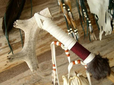 Deer Antler Indian Peace Pipe