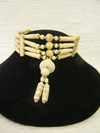 4-Row Carved Native American Style Choker with Center Piece