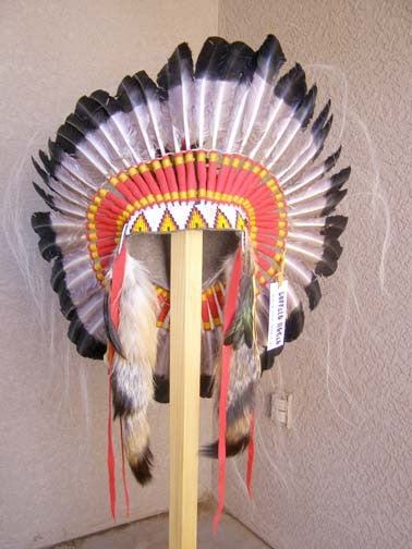 Native American Antiqued Warbonnet