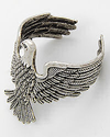Silver Cuff Bracelet with Flying Eagle Design