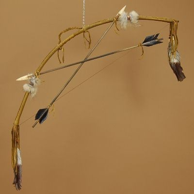 Native American Style Ceremonial Bow & Arrow Set