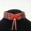 4-Row Native American Style Red Choker with Center Piece