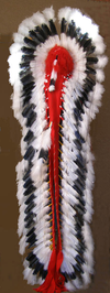 Native American Style Made Double Trailer Warbonnet