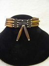 4-Row Native American Style Brown Choker with Center Piece