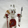 "10"" Navajo Made Wolf Kachina Doll"