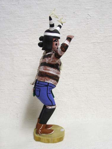 Antique Hopi Carved Clown Katsina Doll by Newton Honyumptewa