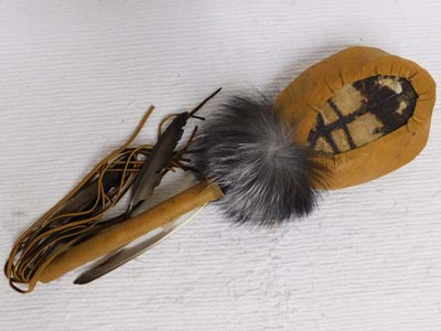 Native American Navajo Made Turtle Rattle