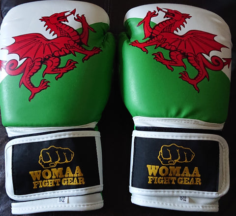 Welsh Flag 10oz Boxing Gloves