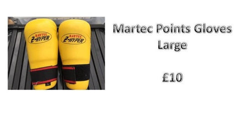 Yellow Martec Points Gloves