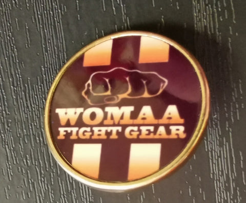 Womaa Fight Gear Pin Badge