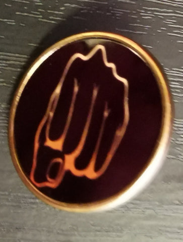 Fist Pin Badge