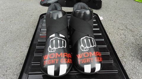 Womaa Fight Gear Boots Black/White/Red