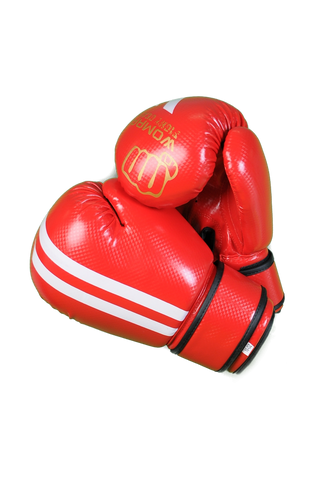 Womaa Fight Gear 10oz Boxing Gloves Red/Gold