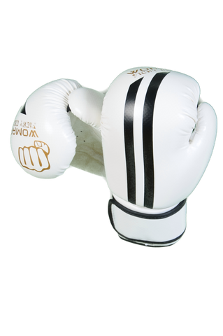 Womaa Fight Gear 10oz Boxing Gloves White/Gold