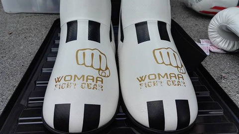 Womaa Fight Gear Boots White/Gold