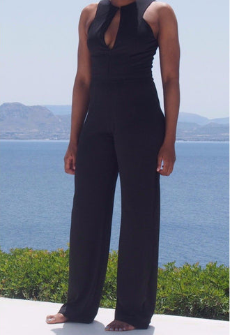 "Our tall black wide leg jumpsuit in 37.5"" inseam; a long jumpsuit for tall women from our tall online shop makes this long trouser jumpsuits the perfect tall girl jumpsuit; a tall womens clothing jumpsuit that is one of the best jumpsuits for tall women! Buy our trendy, tall fashion & complete your lengthy wardrobe."