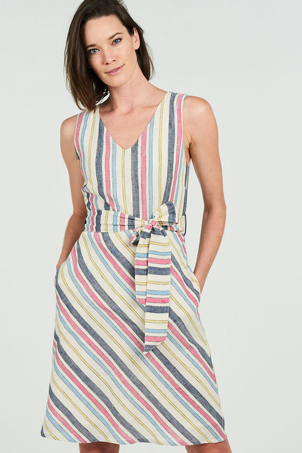 Amber Dress Summer Stripe