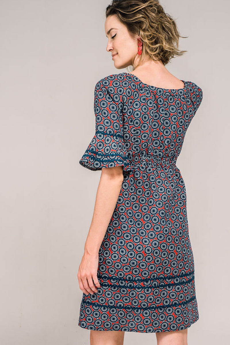 Angelica Dress Daisy Wheel
