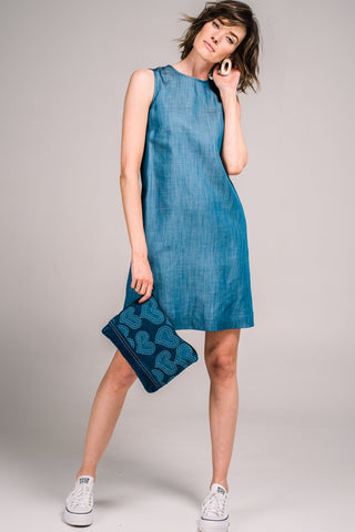 Anja Shift Dress Chambray