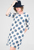 Blossom Dress<br> Navy Spot