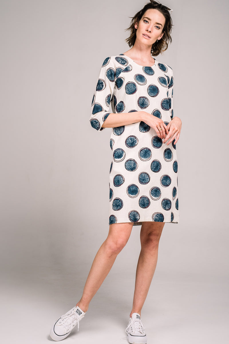 Blossom Dress Navy Spot