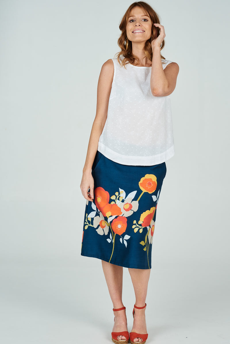 Cisco Tank Embroidered Daisy