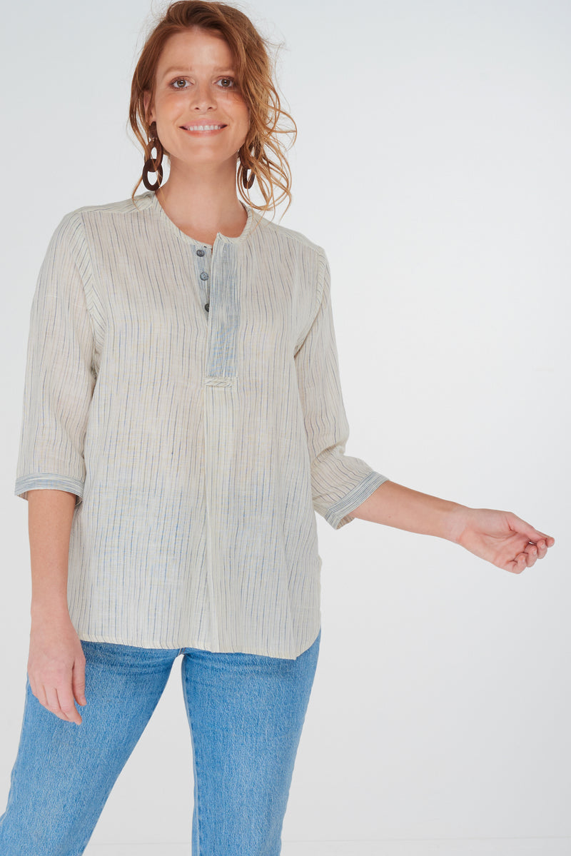 Crew Shirt Chambray Stripe
