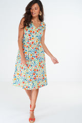 Dana Dress Wildflower White