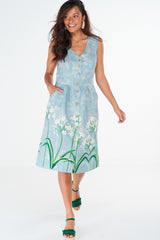 Dana Dress Agapanthus Border