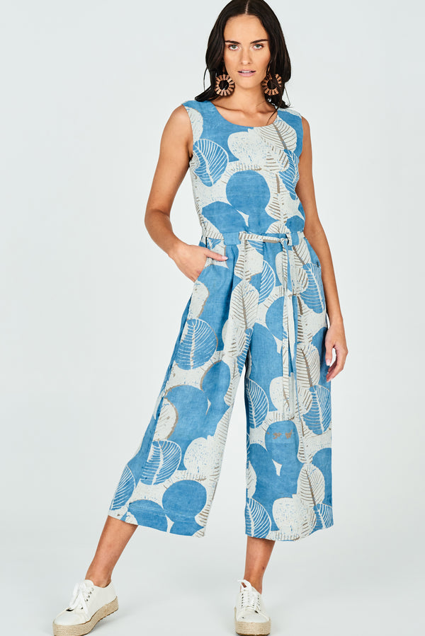 Eva Jumpsuit Organic Fig