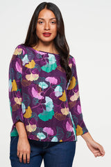 Megan Top Plum Ginkgo