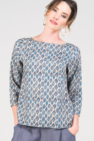 Megan Top <br>Stone Leaf