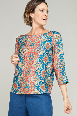 Megan Top Brocade