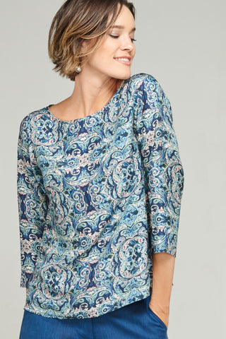 Megan Top Damask
