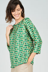 Megan Top Emerald Teardrop