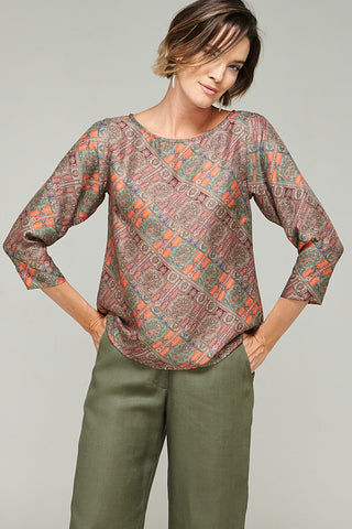 Megan Top Paisley