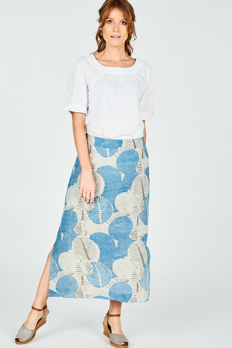 Norah Skirt Organic Fig