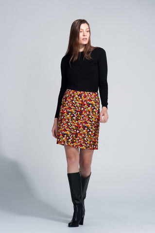 Verona Skirt <br>Multi-coloured Spot