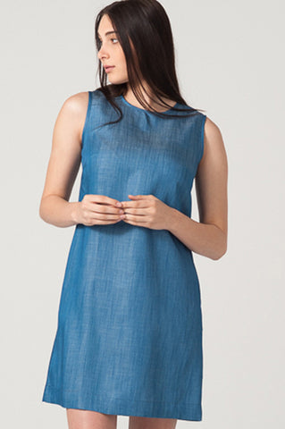 Anja Shift Dress<br>Chambray