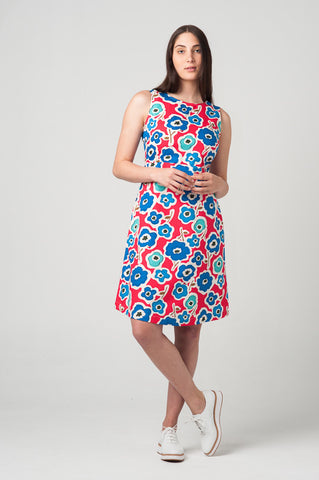 Como Dress <br>Watermelon Flower