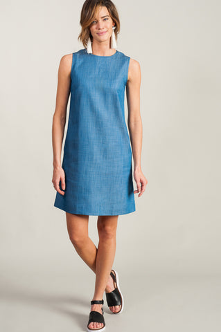 Anja Shift Dress<br> Chambray